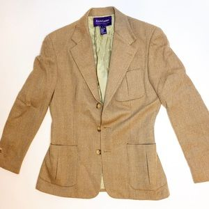 Rare Ralph Lauren Collection Purple Tweed Blazer